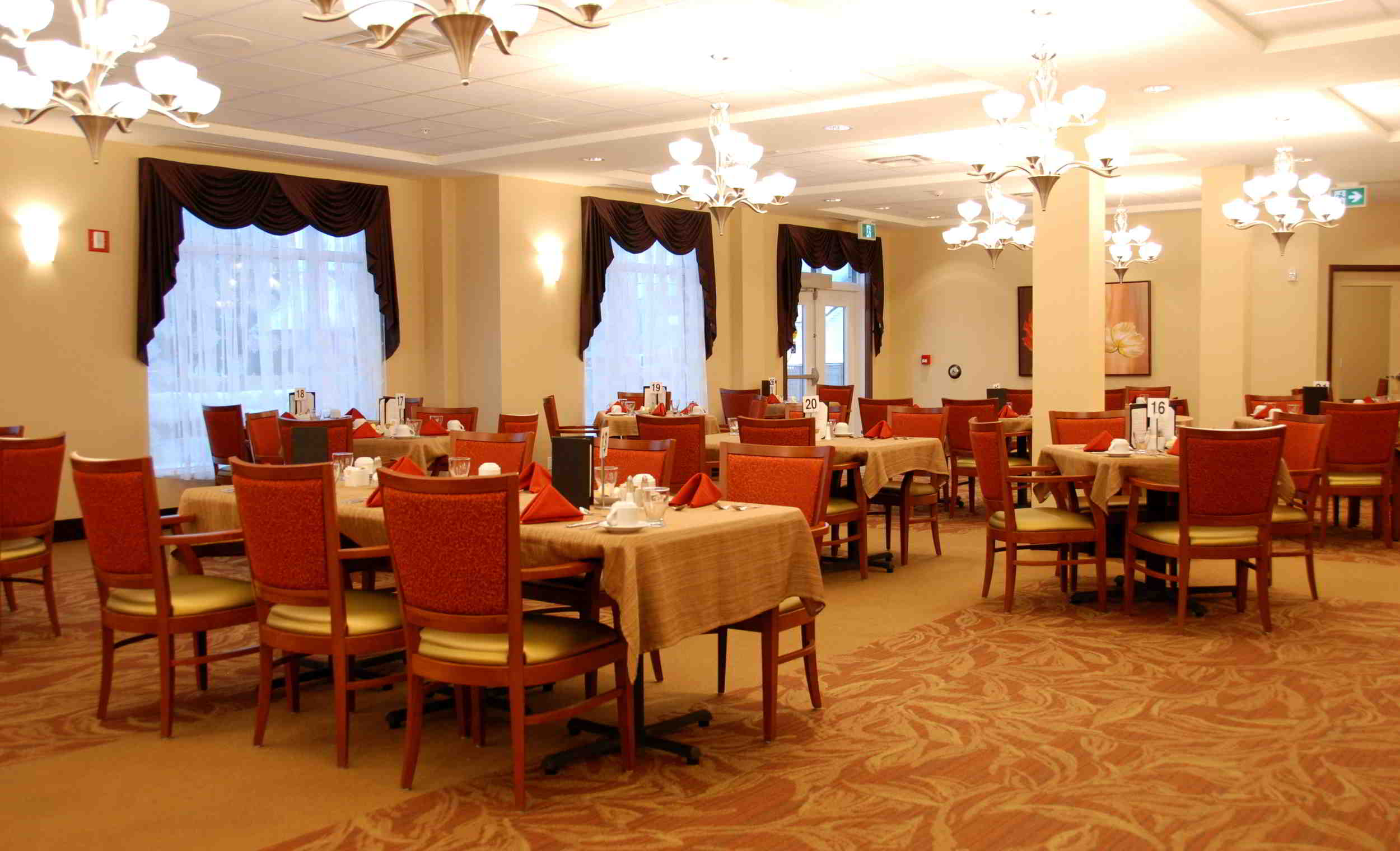 Dining Room at City View Retirement